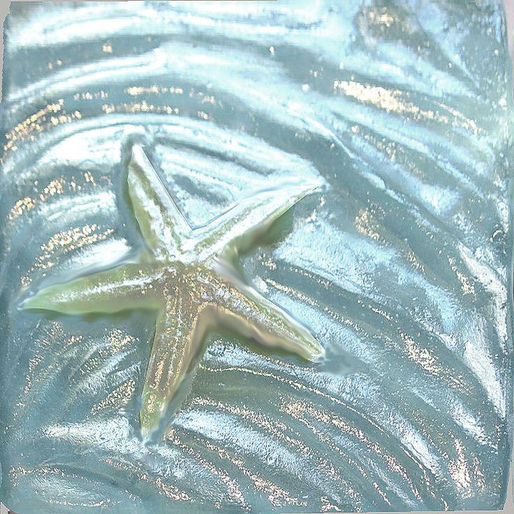 Seashell Glass Tiles For The Home Pinterest