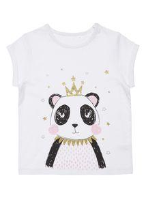 Girls Multicoloured Panda Pyjama T-Shirt (3-12 years)
