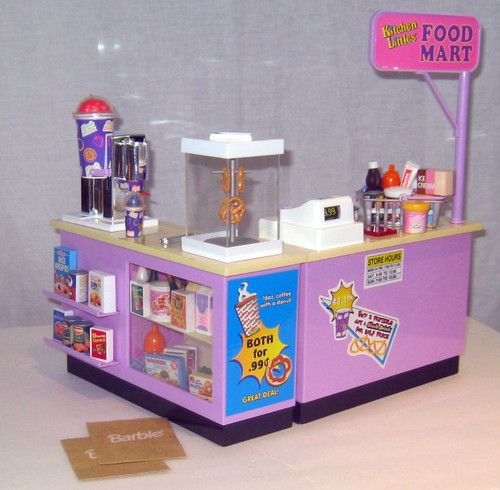 Barbie Tyco Kitchen Littles Food Mart Works Loads of EXTRAS Slushies Pretzels | eBay