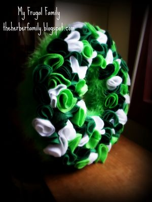 St. Pats Wreath...make for  $3.75!