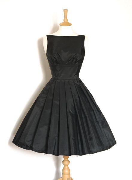 Black Vintage Taffeta Tiffany Prom Dress - http://blackdiamond-rings.com/black-vintage-taffeta-tiffany-prom-dress/