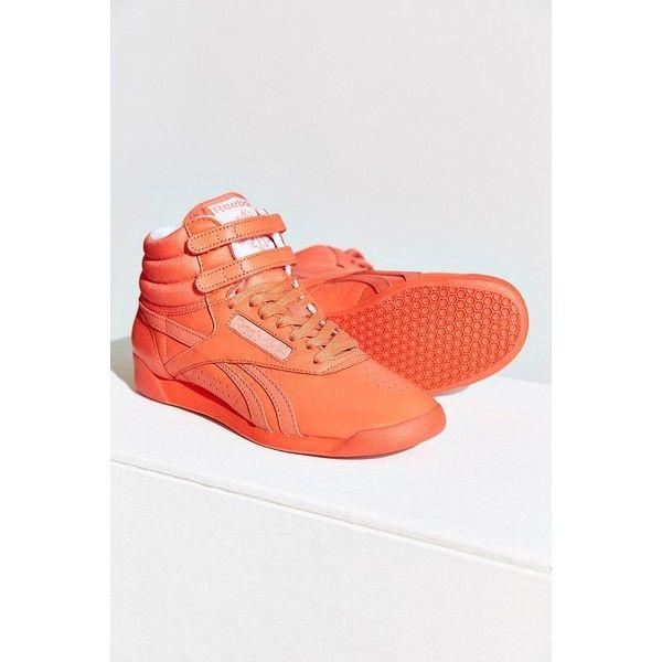Reebok Freestyle Hi Spirit Sneaker ($75) ❤ liked on Polyvore