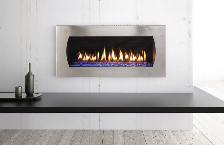 """This is a nice clean design with a Mezzo 36"""" by Heat & Glo."""
