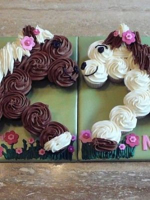 cupcakes in the shape of a horse - Google Search