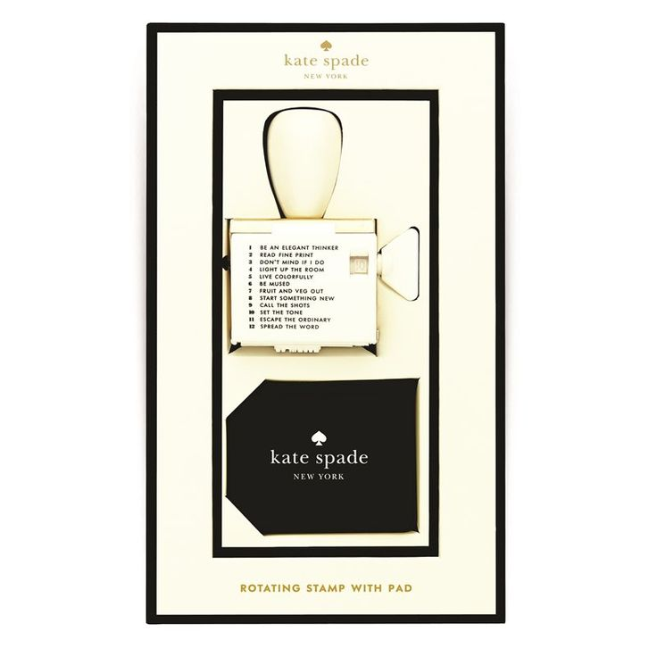 Rotating Stamp and Pad by Kate Spade New York