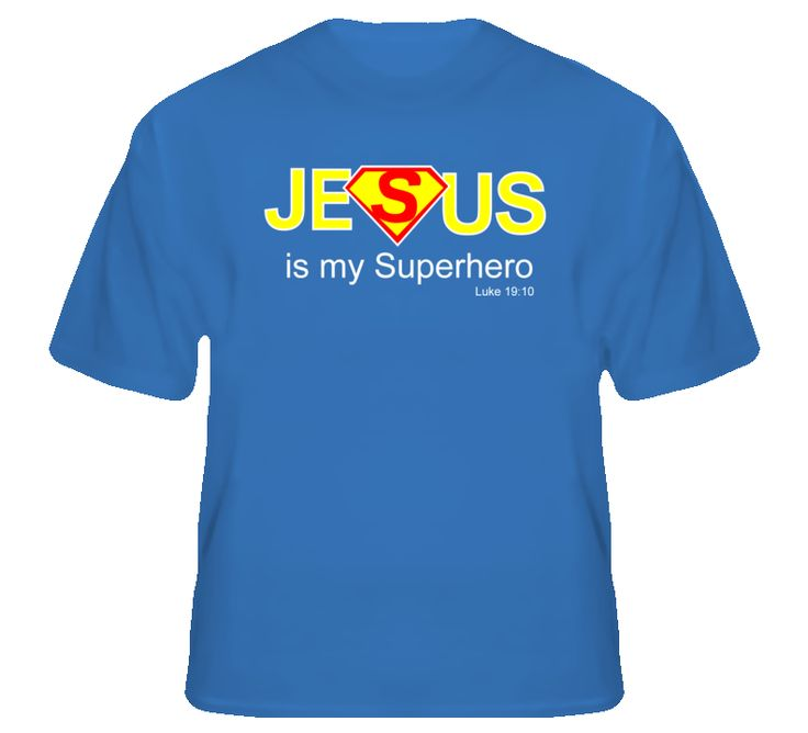 Jesus is my Superhero Royal Blue T Shirt