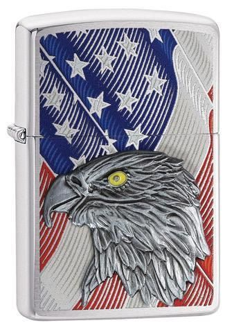 Zippo USA Flag with Eagle Emblem