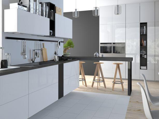 Styl skandynawski uwielbia czystość bieli oraz fakturę i ciepło drewna. Proste i połyskliwe fronty świetnie sprawdzą się w skandynawskich aranżacjach. Kuchnia zyska dużo przestrzeni i będzie wyglądała na optycznie większą. Nowoczesny design frontów oraz ich jednolity kolor wprowadzą do każdej kuchni wrażenie porządku i przestrzeni. Fronty pozbawione standardowych uchwytów świetnie wpasują się w każde miejsce. Kilka prostych dodatków jak lampy i armatura, i nowoczesna kuchnia należy do Was!