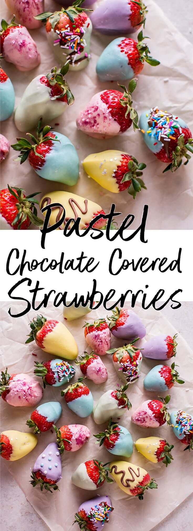 My Easter pastel-colored chocolate covered strawberries are an easy and fun sweet treat that adults and kids will love.