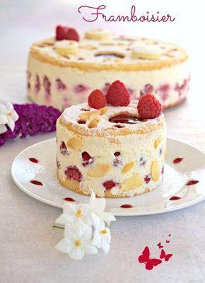 Une recette de dessert de fête avec ce framboisier allégé à la crème diplomate , un pur délice qui demande un peu de préparation mais qui le mérite!