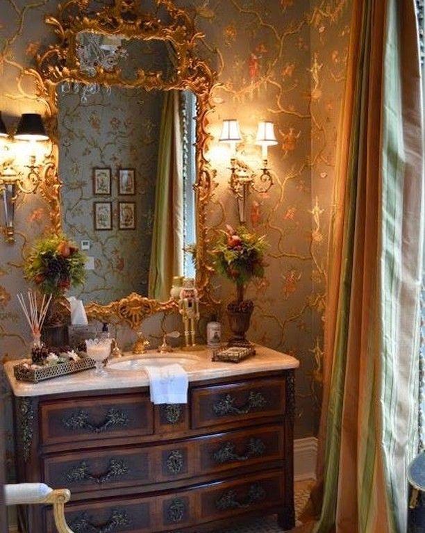 Incredibly pretty... Love the curtain fabric ... I had the same silk striped fabric in my study ...it's the most beautiful shade of lime green , pale yellow and peach ... #decortips #decoracao #decorado #decore #homedesign #interior #interiors #interiores #interiordeco #interiorismo #stylegram #styletips #styleideas #homedecor #homeinspo #homeideas #homestyle #homedecoration #decoração #decorinspo #decorazione