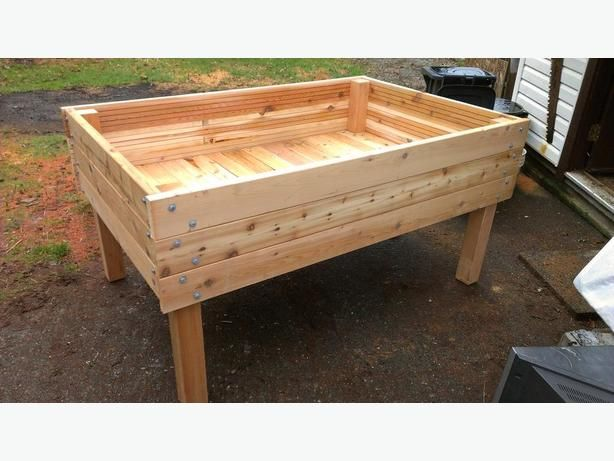 Heavy duty above ground raised bed cedar planters 3'x5' | Above ground garden, Above ground ...