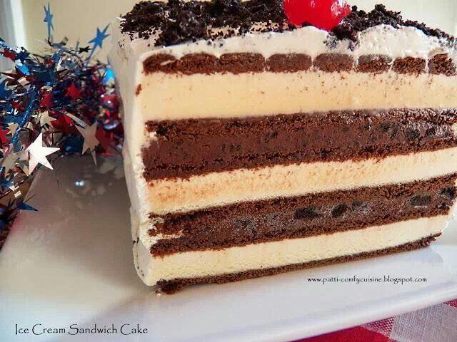 Ice Cream Sandwich Cake Images : ICE CREAM SANDWICH CAKE Desserts Pinterest
