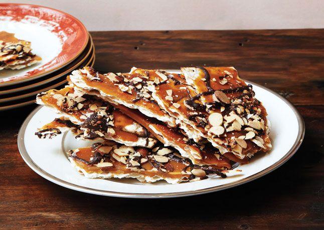 This matzah almond brittle looks to die for.