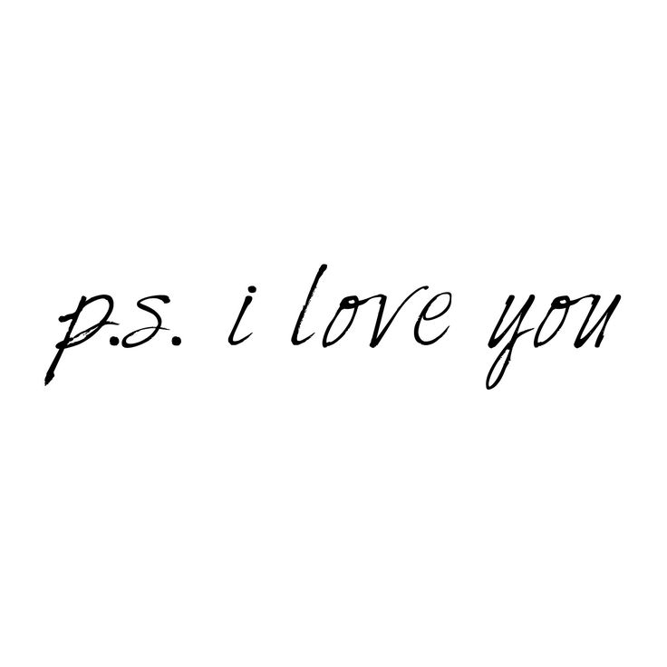 P.S. I Love You Quote Medium Wall Decal