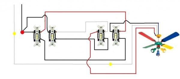 Ceiling Fan With Light Wiring Diagram Two Switches Ceiling Fan Switch Fan Light Switch Light Switch Wiring