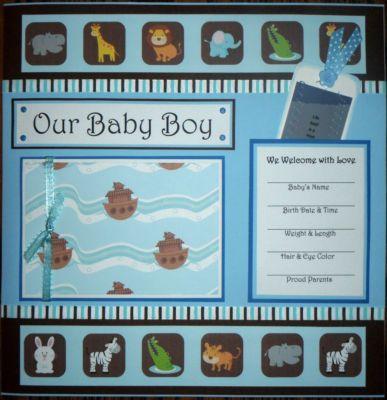 baby boy scrapbook page ideas | ... Scrapbook Pages Baby Boy Noahs Ark 12×12 w/ Album | Best Scrapbook