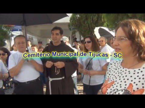 Caminhada de Penitência e Oração, em Cemitérios da região de Santa Catarina, durante o retiro de Carnaval no dia 08/02/2016.