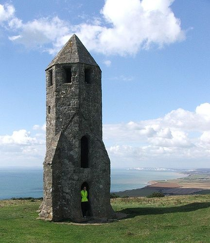 Medieval lighthouse.St Catherine's Oratory, Isle of Wight
