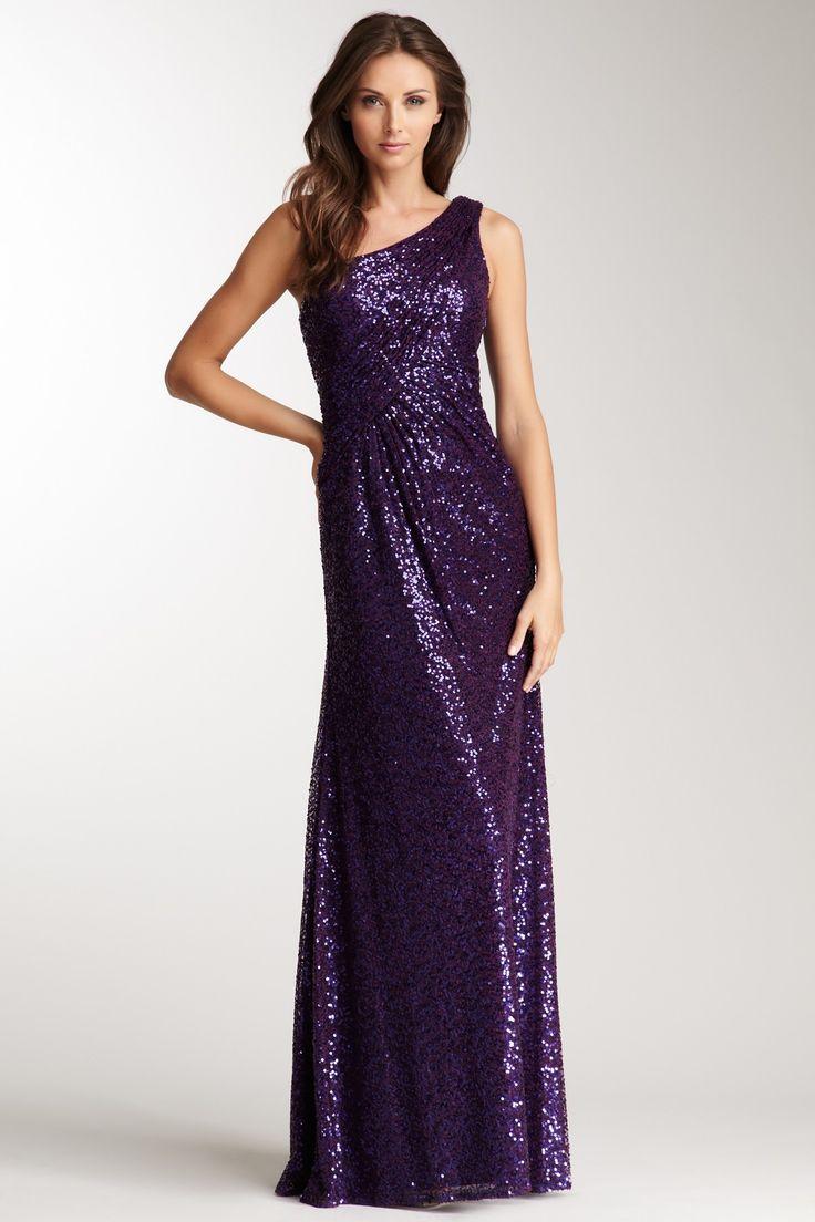 La Femme One Shoulder Sequin Gown on HauteLook