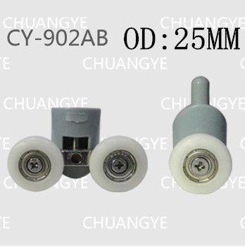 Внешний диаметр: 25 мм 8 штук Аксессуары для душевой Аксессуары для ванной комнаты Ролики для душевой кабины Ролики для ванной комнаты Старомодные ролики Диаметр 25