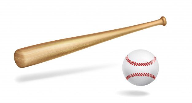 Wooden Baseball Bat And Ball Realistic V Free Vector Freepik Freevector Wood In 2020 Baseball Bat Baseball Baseball Teams Logo