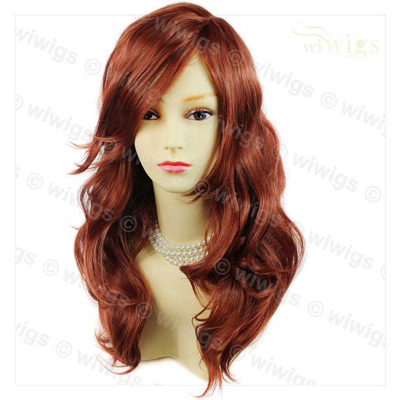Wonderful wavy Long Copper red Curly Heat Resistant by Wiwigs