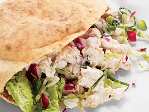 Mediterranean Salad Pita - Pump up your pita with a variety of your favourite Greek goodies.