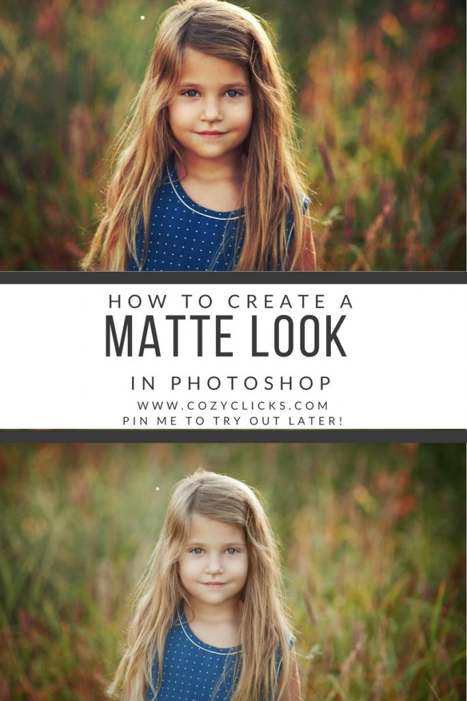 Are you looking for some easy Photoshop tutorials? Read here how to create a matte look in your photo easy! Get a matte look in your photo using 1 of 3 different Photoshop tricks!
