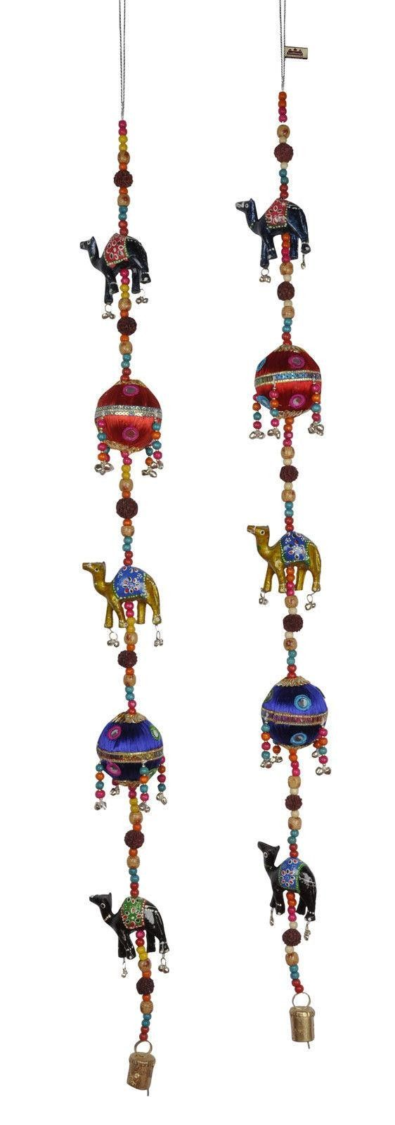 Metal Camel Ornaments Traditional Door Hanging Wall String Bells