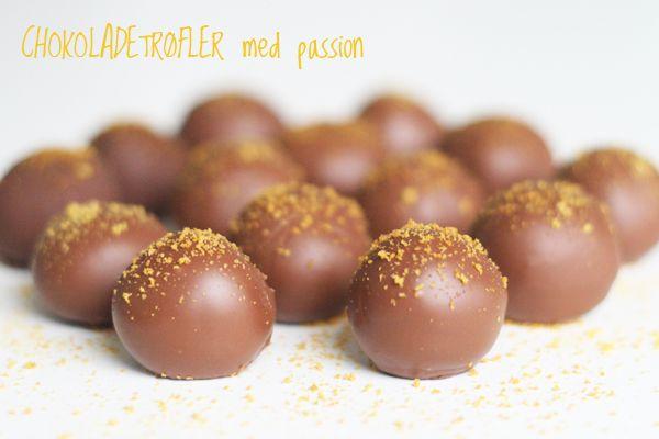 Chokoladetrøfler med passion