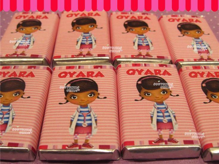 Candy Bar Doctora Juguetes. Chocolates personalizados,