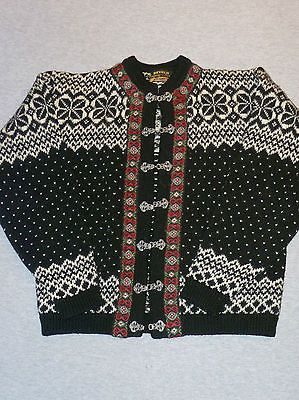 Vintage Devold Hand Knitted Pure New Wool Norwegian Clasped Sweater Size 38 | eBay