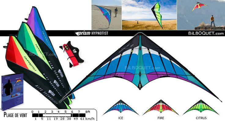Hypnotist cerf-volant complet avec DVD Prism Kites - Cerfs-volants pilotables 2 lignes - Cerf-volant acrobatique - Prism Kites - 149€ - Frais de port offerts