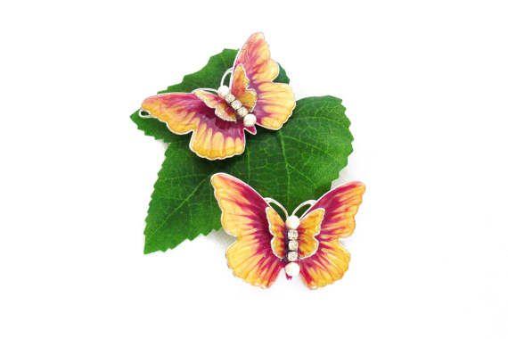 Haarspangen Haarclips Schmetterlinge Haarklemmen von LonasART