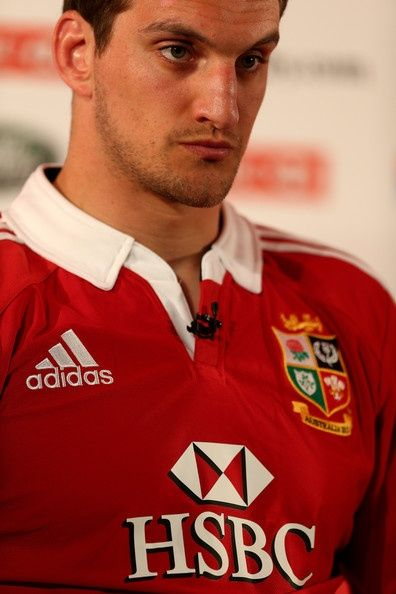 Sam Warburton The British and Irish Lions Captain talks to the media during the 2013 British and Irish Lions tour squad and captain announcement at London Syon Park Hotel on April 30, 2013 in London, England.