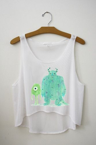 Mike & Sully Crop top! #hipstertops #teenposts - www.hipstertops.com