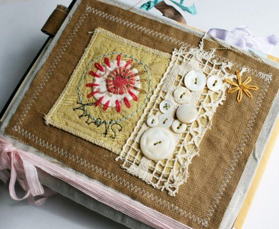 fabric journal cover by Rebecca Sower: Art Quilt Journal--Story