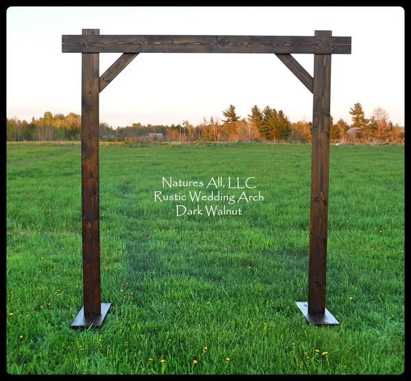 Rustic Country Wedding Arch/Compete Kit For Indoor Or Outdoor Weddings/Dark Walnut!