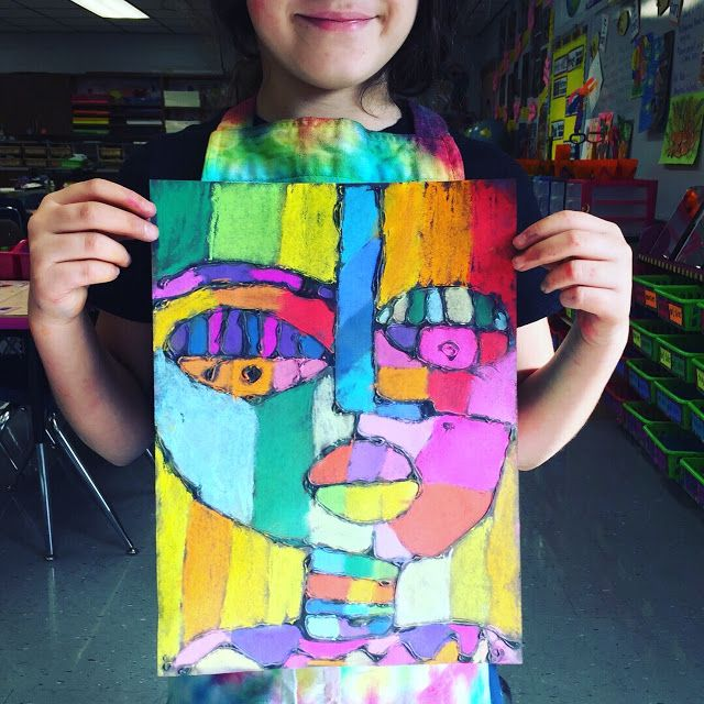 In the Art Room: Sandra Silberzweig Chalk Selfies!