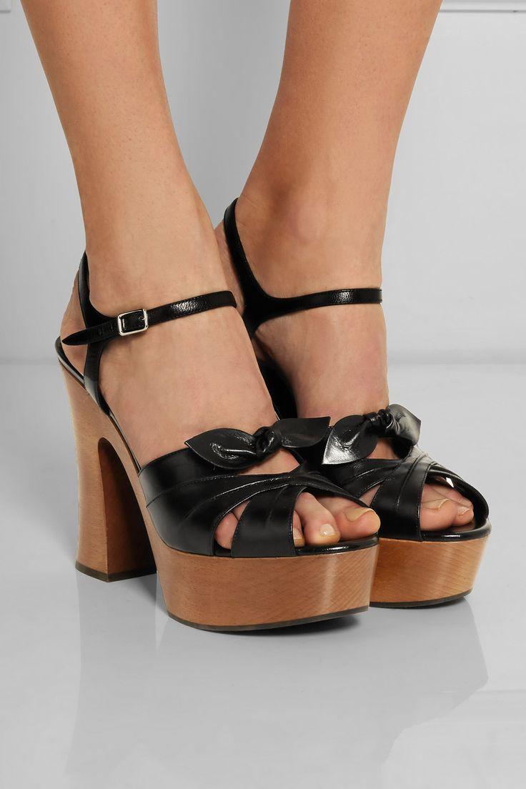 Saint Laurent|Candy leather sandals|NET-A-PORTER.COM