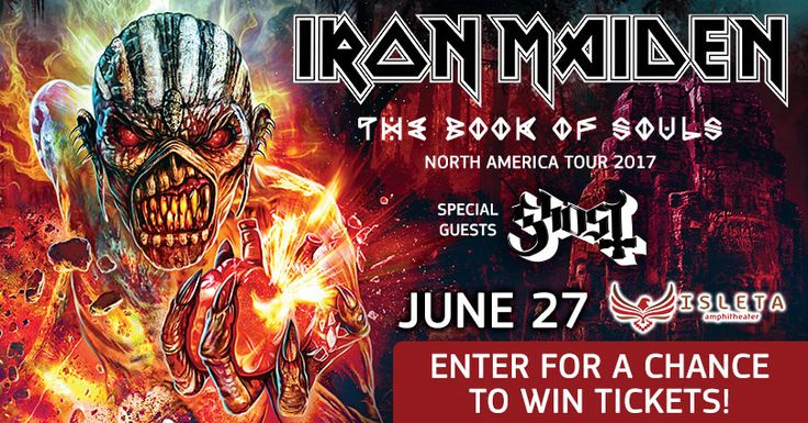 I just entered for a chance to win tickets to see Iron Maiden at Isleta Amphitheater!