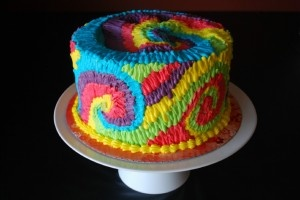 tie dye cake perfection!
