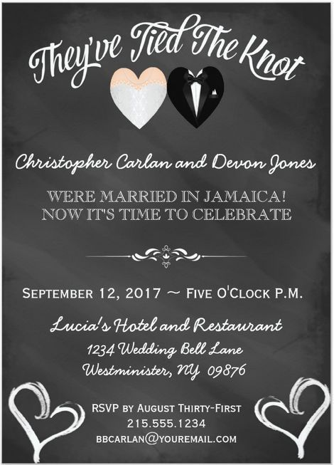 45 best Wedding invitations images on Pinterest Weddings - invitation wording for elopement party