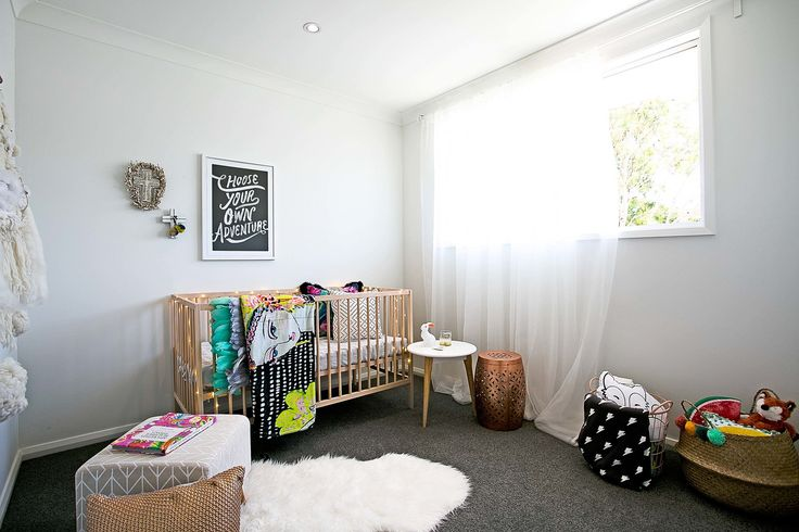 Three Bird Renovations give the nursery a cozy feel with our carpet #bunnings #flooring