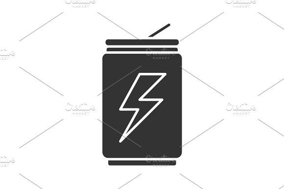 Energy Drink Can Glyph Icon Glyph Icon Glyphs Container Design