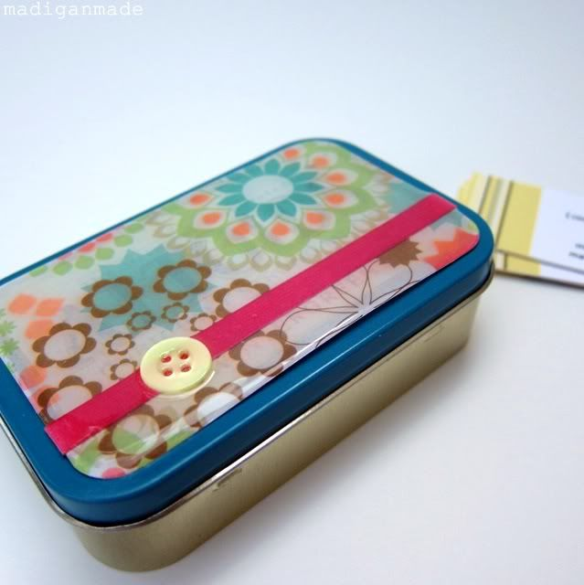 Make a Business Card Holder from an Altoids Tin with Mod Podge and Dimensional Magic
