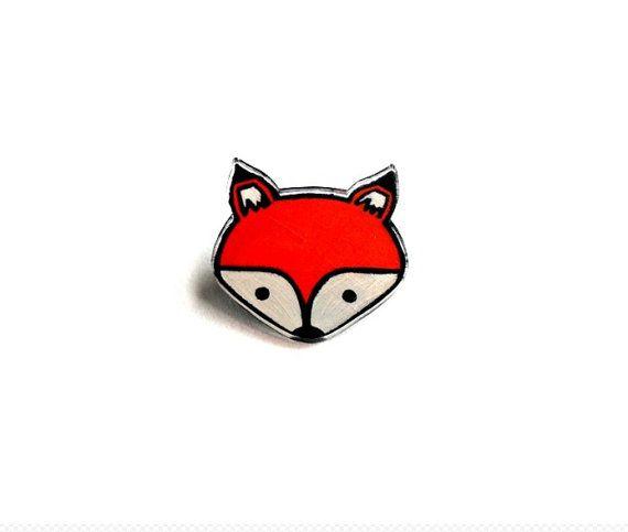 Lil' Fox Pin by kteediid on Etsy, $9.00