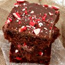 Peppermint Buttermilk Brownies ~ Your favorite Buttermilk Brownies with a Peppermint Twist!
