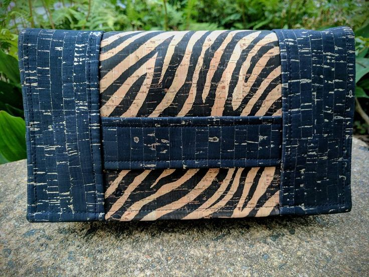 """5 Likes, 2 Comments - Pam Sutey (@bluebyebye) on Instagram: """"This was a fun, quick sew! Zebra and black with gold flecks cork with a pop of turquoise and…"""""""